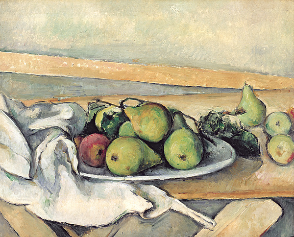 Still Painting - Still Life With Pears by Paul Cezanne