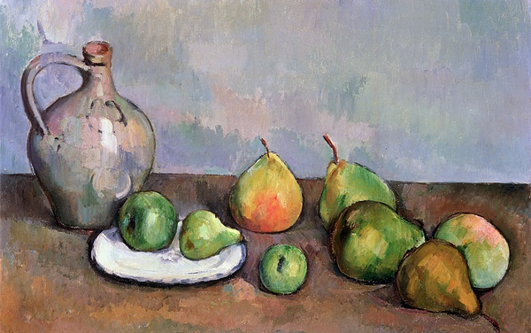 Still Painting - Still Life With Pitcher And Fruit by Paul Cezanne