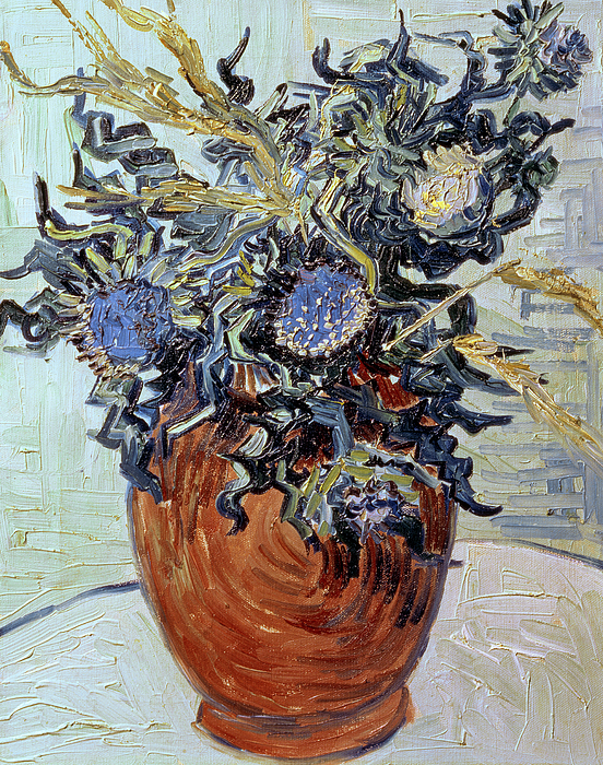 Still Life With Thistles Painting - Still Life With Thistles by Vincent van Gogh