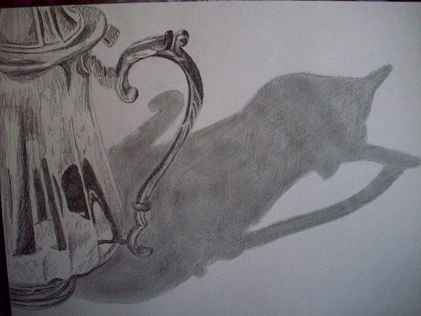 Still Life Drawing - Still Shaddows by Caitlin Binkhorst