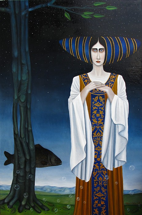 Women Painting - St.madelain by Magda Guzinska