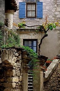 France Photograph - Stone Portico by Jane Baron