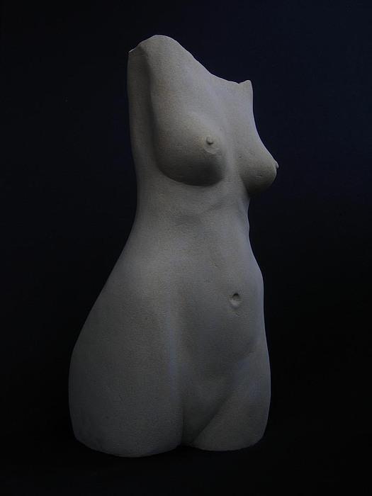 Stone Torso Sculpture by Todd Malenke