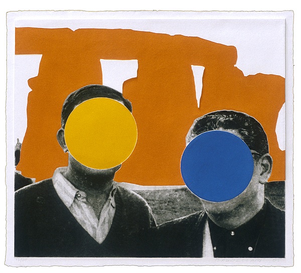 Stonehenge With Two Persons Print by John Baldessari