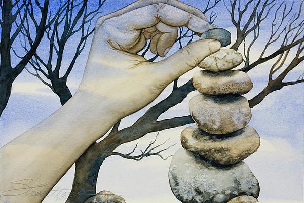 Rocks Painting - Stones by Sheri Howe