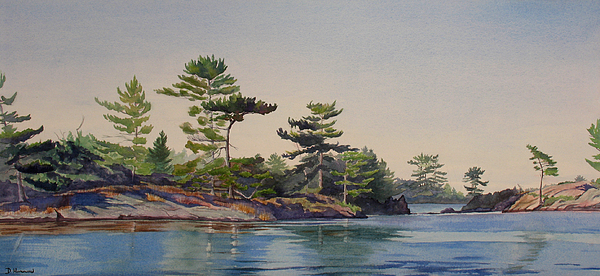 Rocks Painting - Stoney Lake Morning by Debbie Homewood