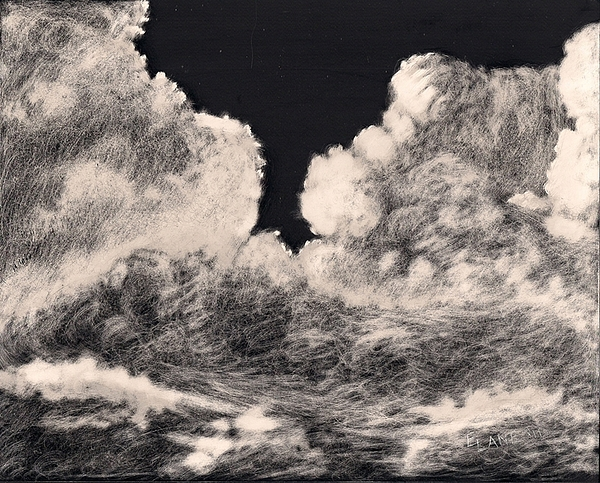 Cloudscape Painting - Storm Clouds 1 by Elizabeth Lane