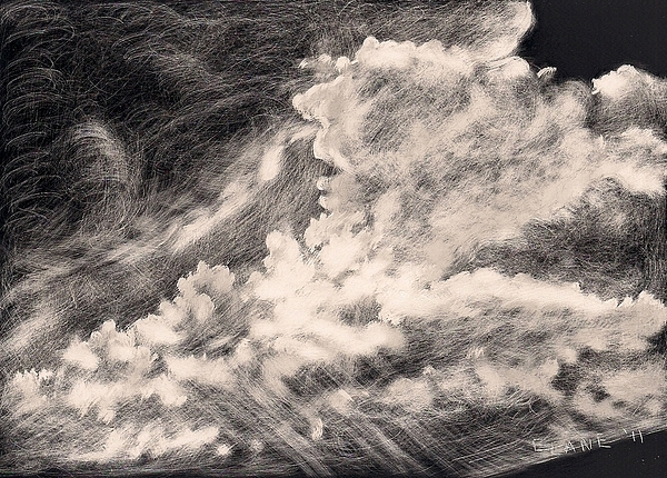 Cloudscape Painting - Storm Clouds 2 by Elizabeth Lane