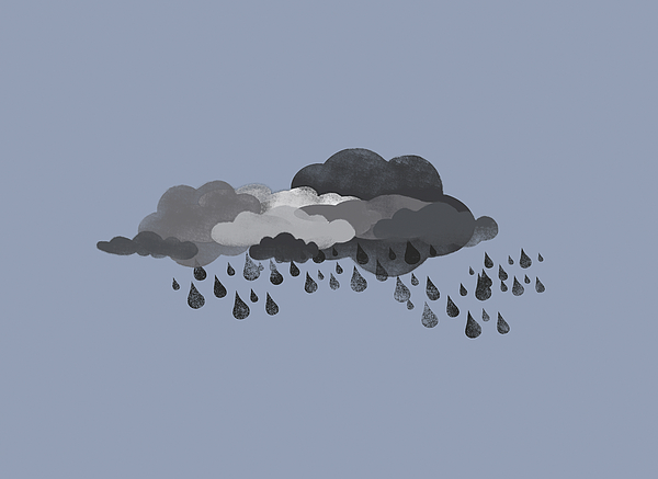 Horizontal Digital Art - Storm Clouds And Rain by Jutta Kuss