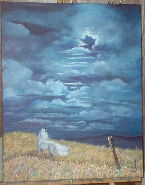 Horse Painting - Storm Dancer by Nancy Waller