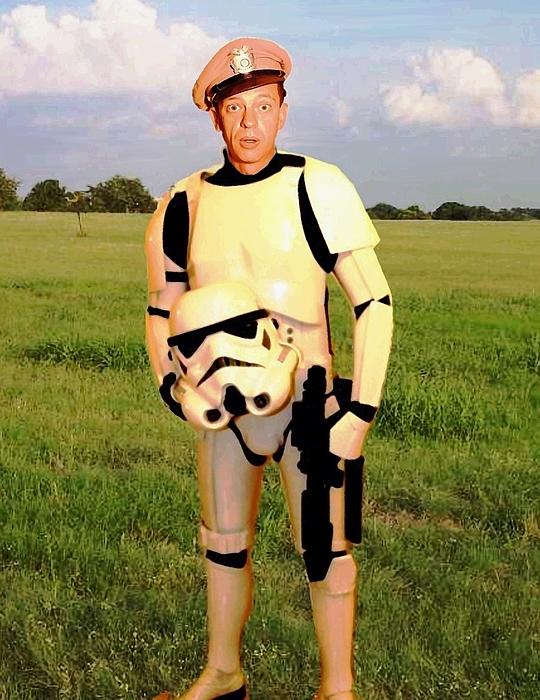 Star Wars Painting - Stormtrooper Barney Fife by Paul Van Scott