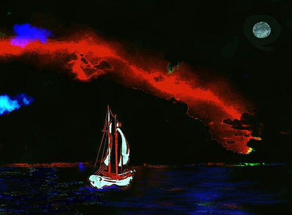 Painting - Stormy Night by Mimo Krouzian