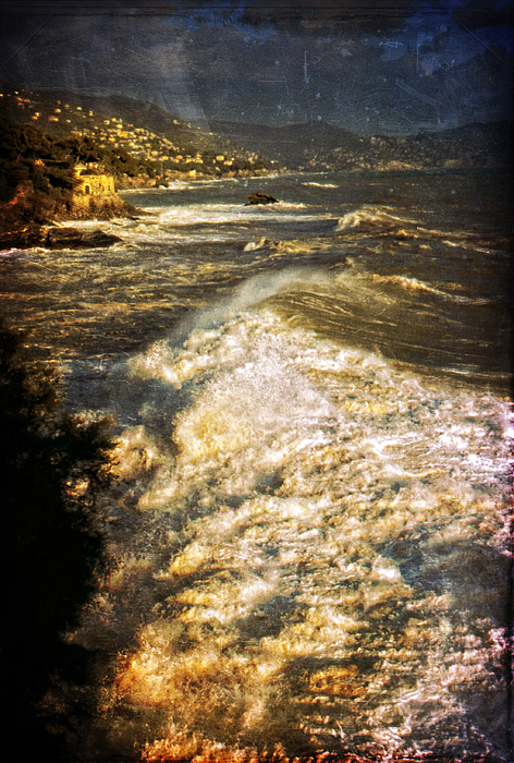 Grunge Photograph - Stormy Sea by Silvia Ganora