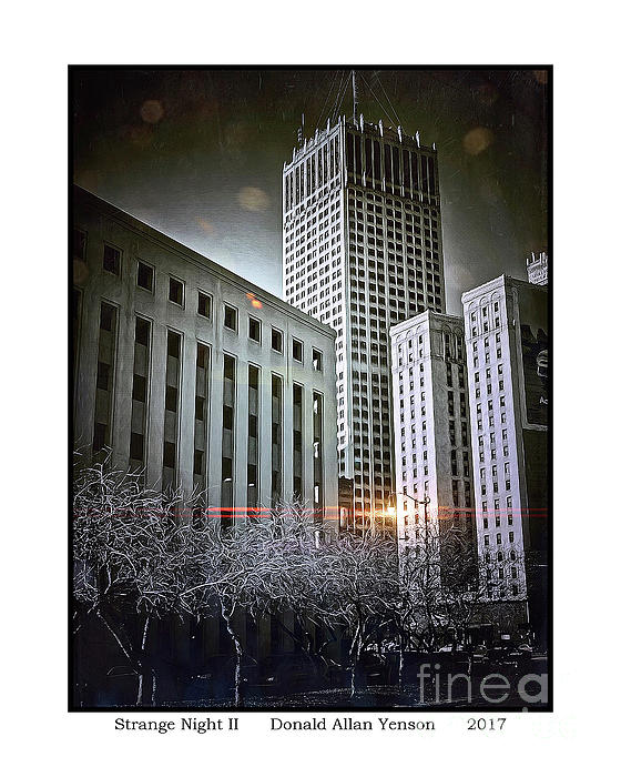 Downtown Photograph - Strange Night II by Donald Yenson