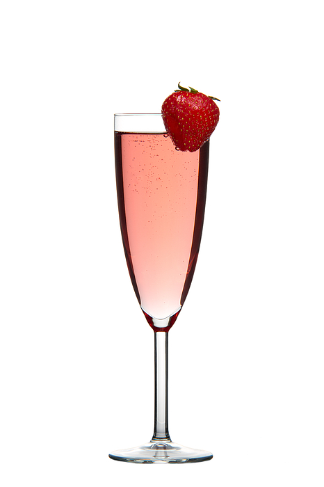 Alcohol Photograph - Strawberry Champagne by Gert Lavsen