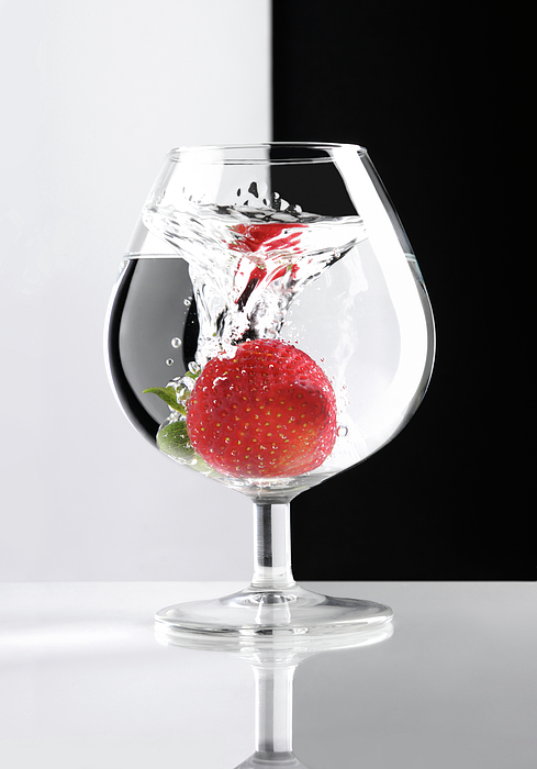 Strawberry Photograph - Strawberry In A Glass by Oleksiy Maksymenko