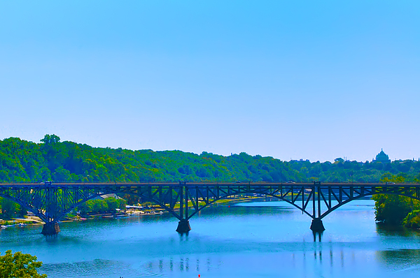 Strawberry Mansion Photograph - Strawberry Mansion Bridge From Laurel Hill by Bill Cannon