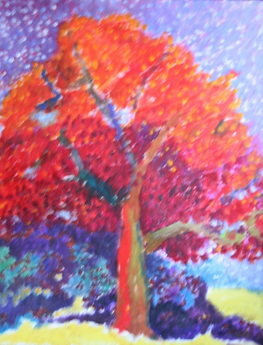 Landscape Painting - Strawberry Tree by Charles Kelly