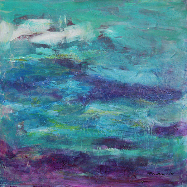 Abstract Painting - Stream by Mordecai Colodner