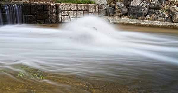 Streams Photograph - Stream Striking A Rock by Paul Budge