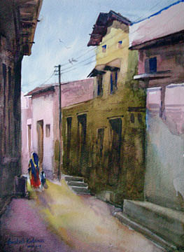 Painting Painting - Street 1 by Aashish Kataria