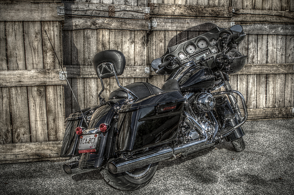 Harley Photograph - Street Glide Crated 2 by Bennie McLendon