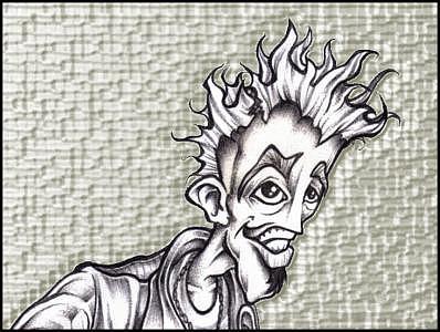 Youth Drawing - Street Punk by Matt Jameson