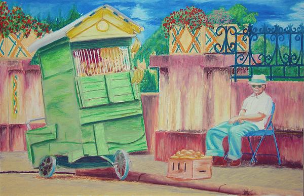 People Pastel - Street Vendor In Humacao by Tito Santiago