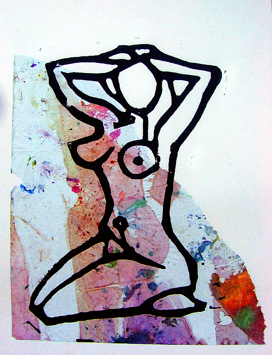 Collage Mixed Media - Stretching 2 by Adam Kissel