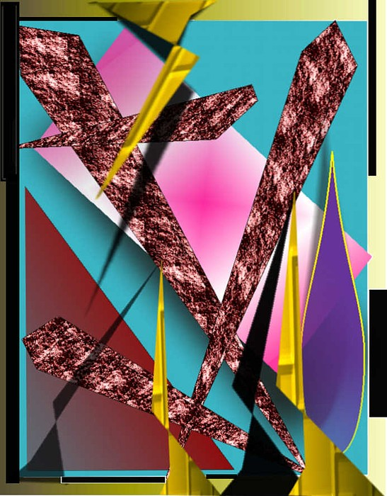 Abstracts Digital Art - Structure by Brenda L Spencer