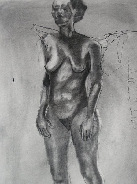 Lady Drawing - Structure by Olivia  Whitby