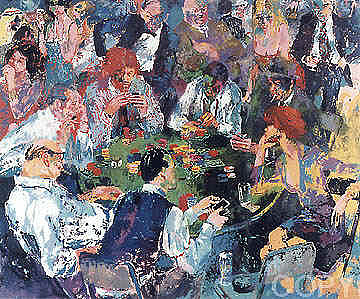 Stud Poker Painting by Leroy Neiman