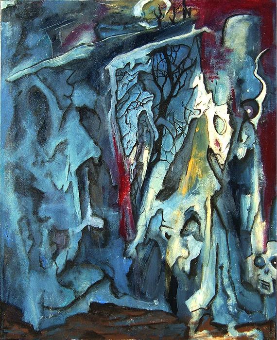 Ghosts Painting - Studio by Chris Spuglio