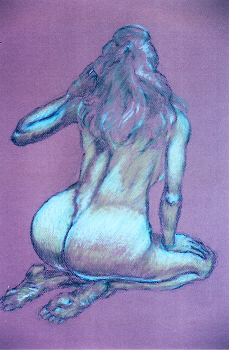 Figure Pastel - Study 66 by Mohd Raza-ul Karim