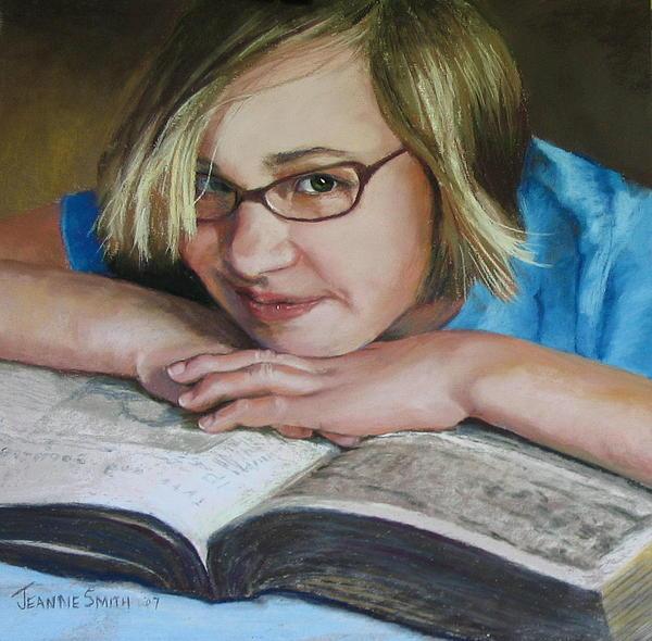 Portrait Painting - Study Break by Jeanne Rosier Smith