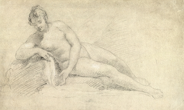 Study Drawing - Study Of A Female Nude  by William Hogarth