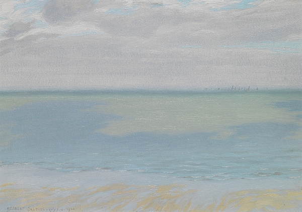 Impressionist Painting - Study Of Sky And Sea by Herbert Dalziel