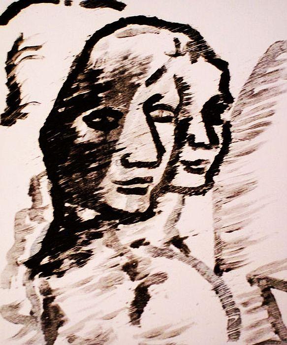 Study  Drawing by Oscar Galvan