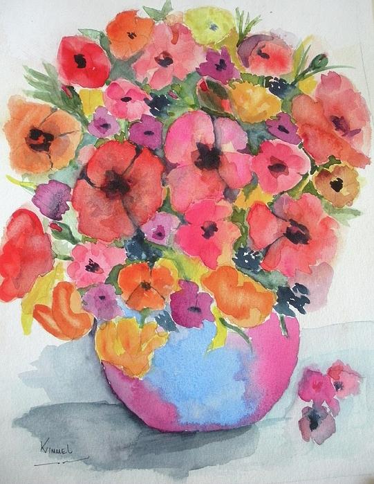 Flowers Painting - Stunning Flower Arrangement by Harold Kimmel
