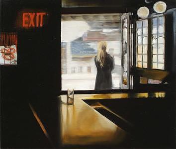 Subway Inn Painting by Roman Pastucha