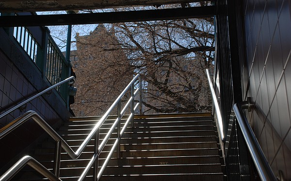 Street Scene Photograph - Subway Stairs by Rob Hans