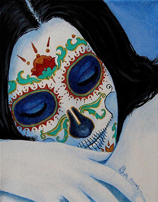 Dia De Los Muertos Painting - Suenos Pacificos by Al  Molina