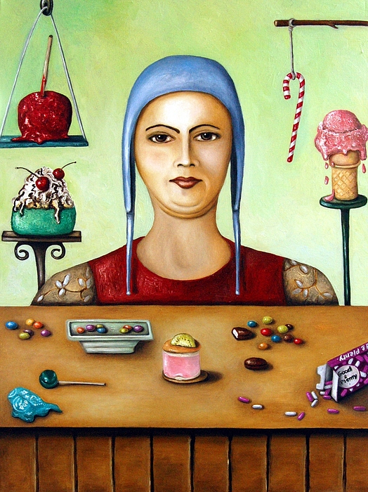 Candy Cane Painting - Sugar Addict by Leah Saulnier The Painting Maniac