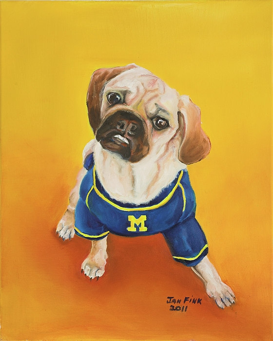 Dog Painting - Sugar by Jan Fink