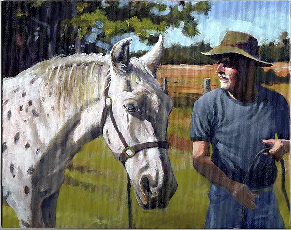Horse Painting - Sugar by Todd Baxter