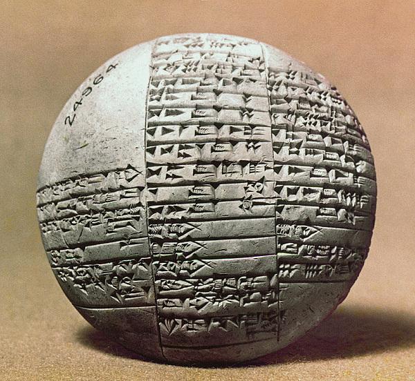 Ancient Photograph - Sumerian Cuneiform by Granger