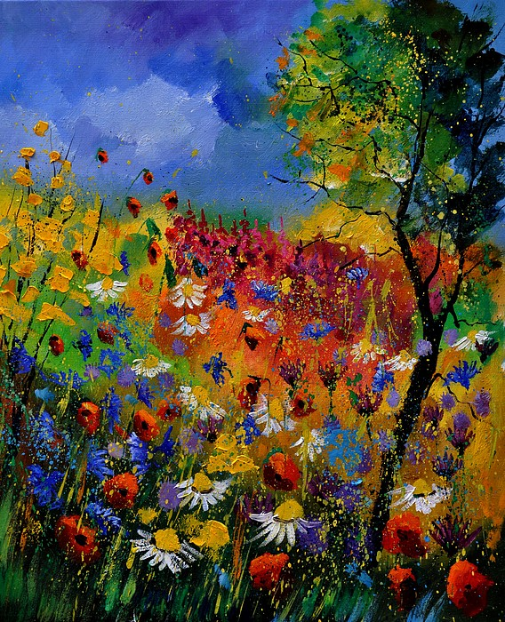 Flowers Painting - Summer 670170 by Pol Ledent