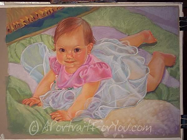 Infant Painting - Summer Baby by Liz Van der Werff