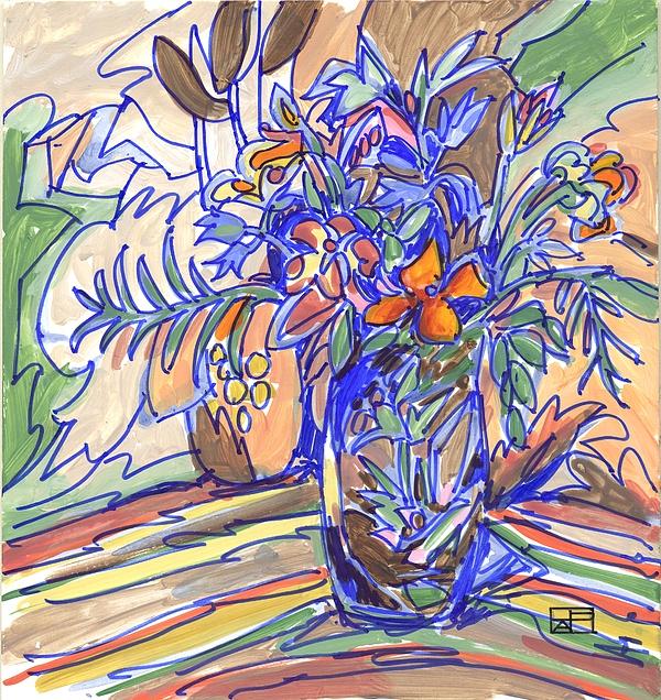Still Life Painting - Summer Bouquet by Helen Pisarek