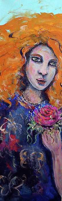 Portrait Painting - Summer Breeze by Denice Rinks